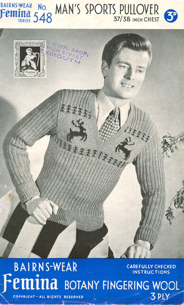Vintage Christmas Jumper Knitting Pattern : Christmas knitting patterns from The Vintage Knitting Lady