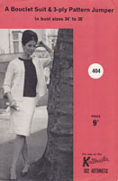 vintage knitmaster knitting pattern for ladies suit 1960s 302 automatic