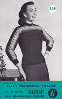 vintage passap machine knitting pattern for ladies fair isle jumper