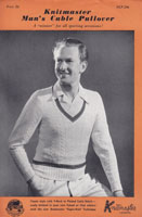 vintage mens cricket jumper machine knitting pattern 1950s knitmaster
