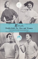 vintage ladies and mens machine knitting pattern 1950