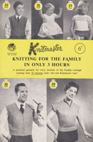 vintage knitmaster knitting pattern for the family book 1950s