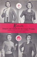 vintage knitmaster machine knitting pattern for ladies 1950s