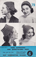 passap ladies hat knitting pattern for passap 1950s vintage knitting machine