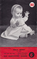 vintage baby doll knitting pattern for passap vintage knitting machine 1950s