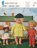 vintage dolls knitting pattern 1950s