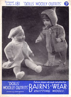 vintage doll knitting pattern 1940s bairnswear pramset kniting pattern