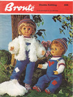 vintage toddler doll trouses jumper loopy jacket socks and hat knitting pattern