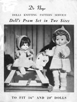 vintage doll knitting pattern for pedigree dolls 1950s