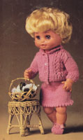 vintage doll 1970s knitting patten 13 inches