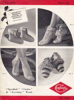 vintage bed socks and slippers crochet pattern 1930s