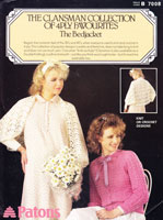 vintage ladies bed jaceket crochet pattern 1980s