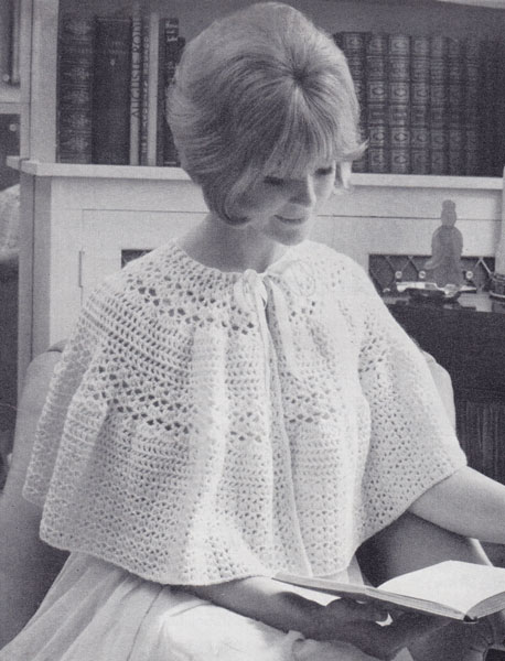 Knitting Pattern Bed Cape : Vintage. Crochet patterns available from The Vintage Knitting Lady