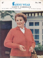 vintage ladies cardigan for the fuller figure 1950s knitting pattern