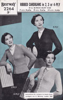vintage ladies ribbed jumper knitting pattern 1940s