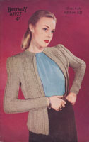 vintage ladies Bestway cardigna knitting pattern