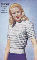 vintage ladies summer jumper 1940s