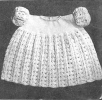 vintage baby dress knitting pattern 1940s