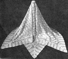 vintage knitting pattern from 1940s for shawl