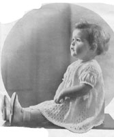 vinatage baby dress knitting pattern from 1936