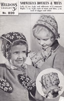 vintage beret and hood knitting pattern from 1940 baby