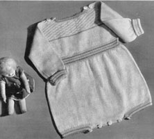 vintage baby riomper knitting pattern from 1920s.