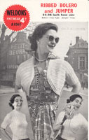 vintage ladies bolero and jumper set from 1940s