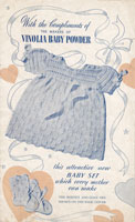 vintage baby knitting pattern dres set 1940s
