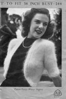 vintage ladies bolero knitting pattern