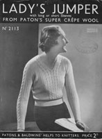 vintage 1940s ladies jumper 4ply