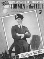 vintage betway knitting pattern for ww2 service jumper for navy world war two world war 2