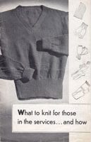 vintage pullover knitting pattern 1940s wartime