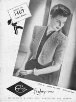 vintge 1940s ladies bolero knitting patterns