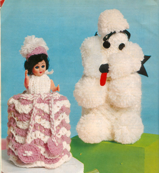 Vintage Household Items knitting patterns available from The Vintage Knitting...