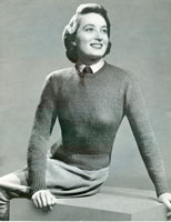 vintage wartime sweater for land girl
