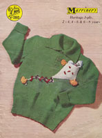 vintage childs jumper with kite knitting patterns