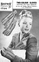 ladies vintage hats and gloves knitting patterns 1940s