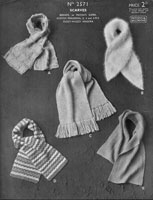 vintage ladies scaves knitting pattern from 1930s