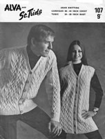 vintage alva109 aran knitting pattern mens ladies vintage arran