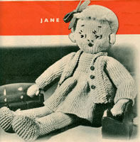 vintage knitted doll knitting patterns