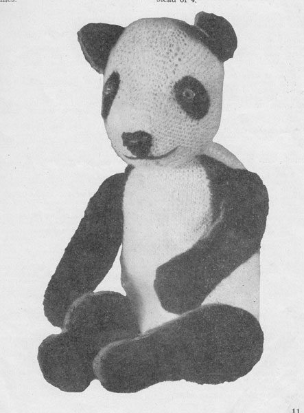 Vintage Knitted Toy knitting patterns available from The Vintage Knitting Lady