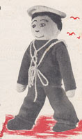 knitted toy doll pattern sailors