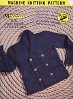 vintage childs jacket marriners machine knitting pattern