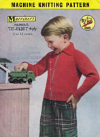 vintageboys zip lumber jacket machine knitting pattern 1950s