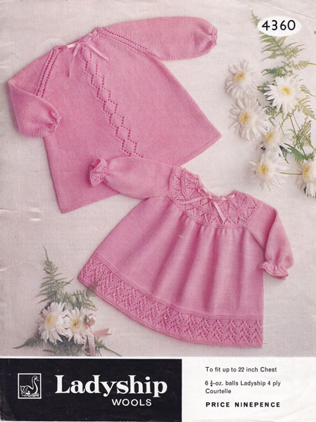 Baby Clothes Knitting Patterns : Vintage baby clothes knitting patterns from the