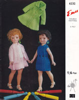 vintage teen doll knitting pattern 1950s