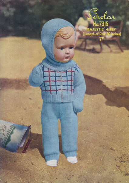 Sirdar Knitting Patterns For Dolls Clothes : Vintage knitted dolls clothes patterns available from The ...