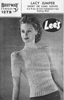 ladies vintageknitting patterm 1940s