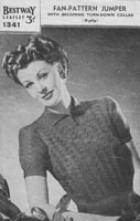 vintage knitting ladies jumper 1940s  knitting pattern