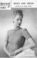 vintage knitting pattern for ladies 1940s jumper
